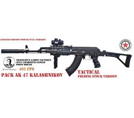 Pack AK 47 Kalashnikov tactical folding stock version