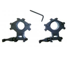 Anneaux de montage rapide swiss arms 25,4 - 30 mm