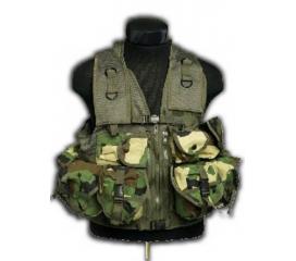 Gilet Tactique 12 poches camo