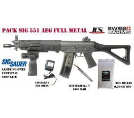 Pack SIG 551 swatt full metal ICS et poignée avec led de navigation sig sauer