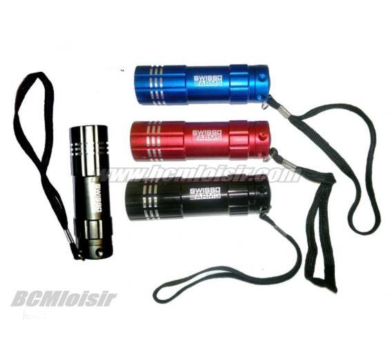Lampe Flashlight aluminium 9 leds Swiss Arms