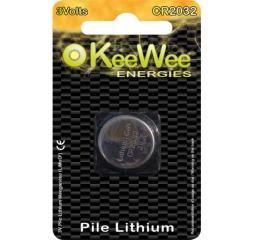 Pile bouton lithium manganese Kee Wee CR2032