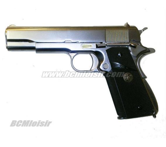 M1911 matte cecke grip full metal chrome GBB WE