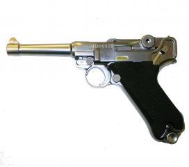 Luger P08 S full metal chrome GBB WE
