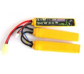 Batterie LI-PO 11,1 V 3 elements 1100 mah
