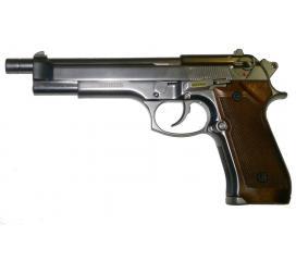 M92 long matte chrome wood grip GBB WE