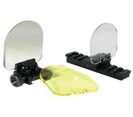 Protection flip up fibre pour lunette de visée et red dot
