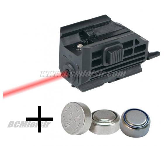 Laser micro ASG pour rail picatinny + 3 piles LR44