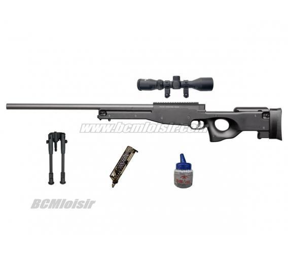 Pack AW308 Sniper + Lunette 3,9 X40 + bipied + billes