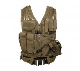 Veste tactique Coyote 8 poches Holster + Ceinturon
