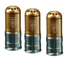 Pack de 3 Grenades 40 mm billes 6 mm 120 shots Elite Force