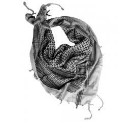 Echarpe Shemag Keffieh Noir et Blanc 110X110 cm Miltec