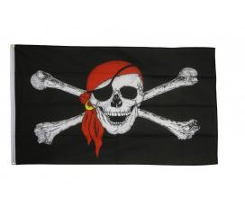 Drapeau Pirate Bandana rouge 90 X 150 cm