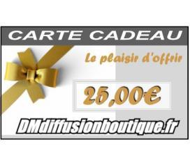 Carte Cadeau Airsoft d'une valeur de 25,00 €