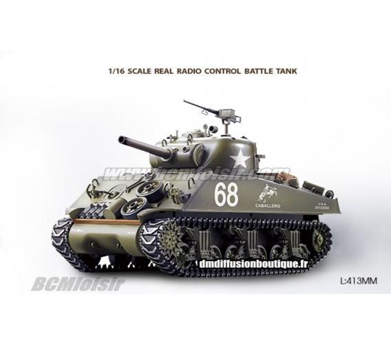 Char d'assault Sherman M4A3 Pack complet bruit et fumée