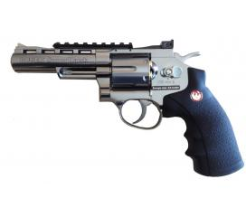 "Ruger super hawk 4"" full metal chromé avec Balles CO2"