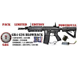 Pack GR4 carbine G26 blowback by G&G black