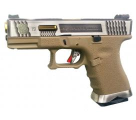 G19 G-Force T4 Metal Slide Silver Gold Tan GBB WE
