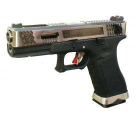 G18 G-Force T4 Metal Slide Silver Silver Black GBB WE