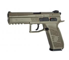 CZ P09 Tactical FDE Gaz Blowback Textured Grip