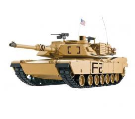US ABRAMS M1A2 Char RC 1/16 2,4 ghz Complet Bruit et Fumée