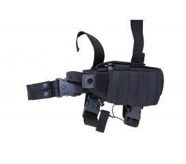 Holster de cuisse vertical DMoniac noir porte-chargeur