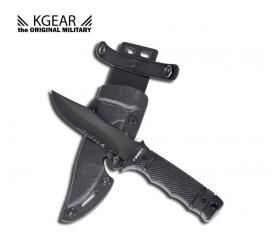 Couteau M37-K commando noir + étui factice en plastique