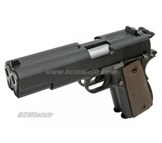 WE 1911 Dueller Double Canon Full Metal Black Gaz Blowback