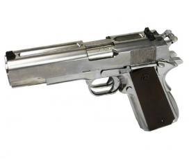 WE 1911 Dueller Double Canon Full Metal Silver Gaz Blowback