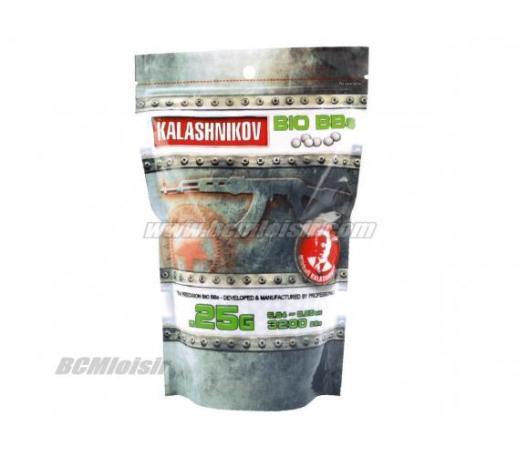 Billes Kalashnikov Bio Precision 0,25 gr sachet de 1 KG