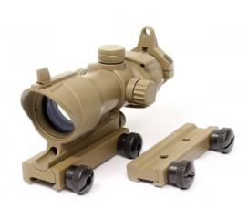 Lunette Point Rouge et Vert Acog 1X32 Tan Double Rail