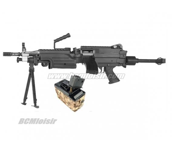M249 Paratrooper Full Metal Classic Army AEG 1,1 J Amobox 1200 cps Pack Complet
