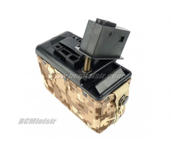 Chargeur Ammobox Electrique M249 1200rd Classic Army