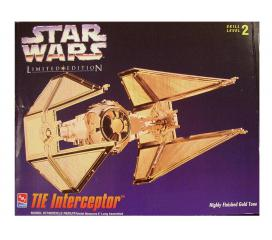 Tie Interceptor Star Wars Gold Edition Amt Ertl