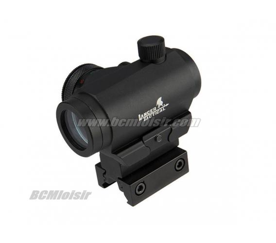 Point Rouge et Vert Micro T1 Black avec Support Full Metal
