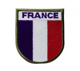 Ecusson Patch France Auto Agrippant Velcro