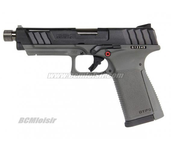 GTP9 Pistol Blowback 0,9 J Gaz Culasse Mobile Noir et Gris G&G