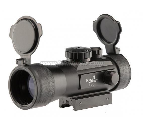 Lunette Point Rouge et Vert Magnifier RIS 2X42 Full Metal