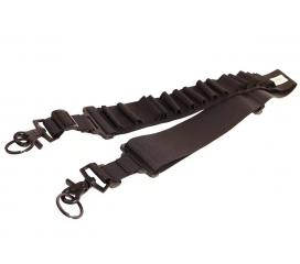 Sangle Cartouchiere noire 15 Cartouches pour Fusil à Pompe