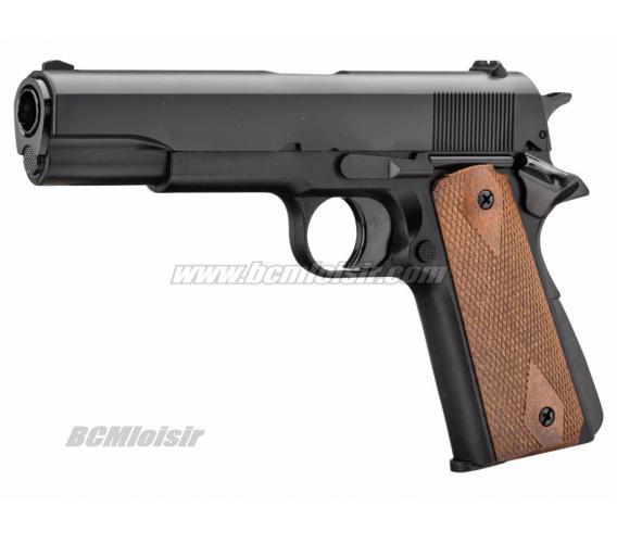 Replique Colt 1911 Noir GNB Gaz 1 Joule