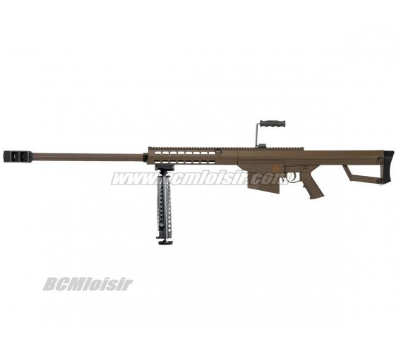 Sniper LT 20 Barrett M82 Tan Spring avec Bipied et Poignée 1,5 J