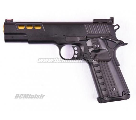 Replique Colt 1911 Night Or Full Metal Gaz Blowback Golden Eagle