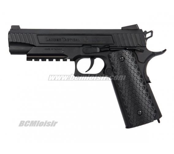 Pistolet 1911 Rail Gun LTX 50 Full Metal Blowback CO2