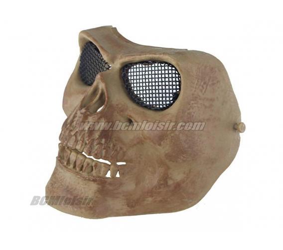 Masque Skull grillagé Tan Norme EN 1731 / 2006