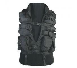 Veste tactique noire 11 poches